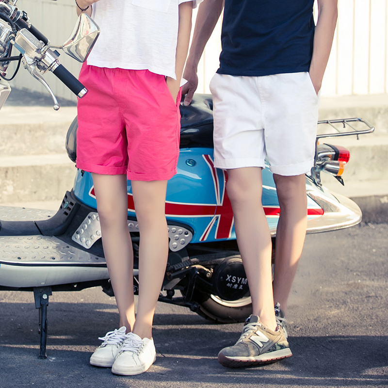 Summer Shorts Men 2020 New Knee Length Loose Mens Shorts Quick Dry Lovers Beach Shorts Women Casual Bermuda Masculina 100%Cotton