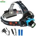 Indutivo de alta potência Farol Sensores Infravermelhos de Modo 3 10 W CREE XML T6 LED Farol Cabeça da Tocha Da Lâmpada de Luz Para Camping