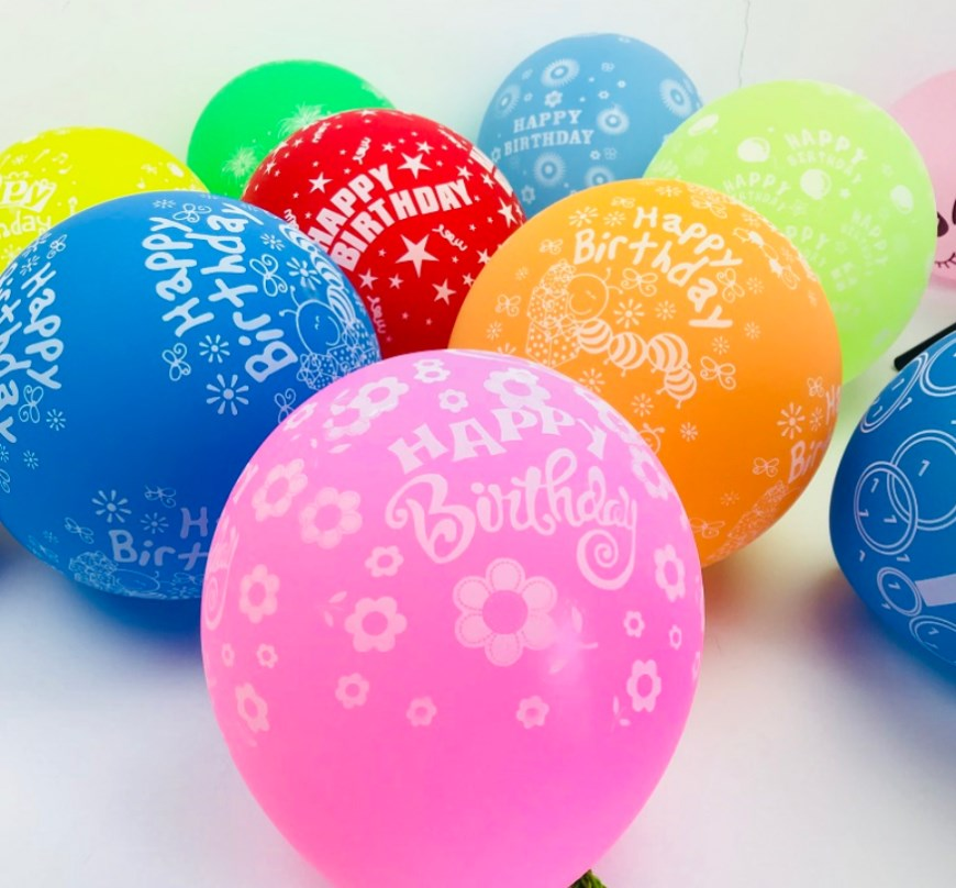 """12/"""" Mix Printed Happy Birthday Colour  Latex Balloons party decorations baloonS"""