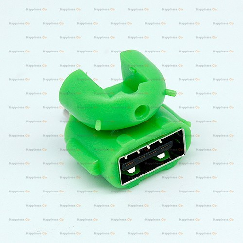 android robot shape micro usb to usb otg adapter