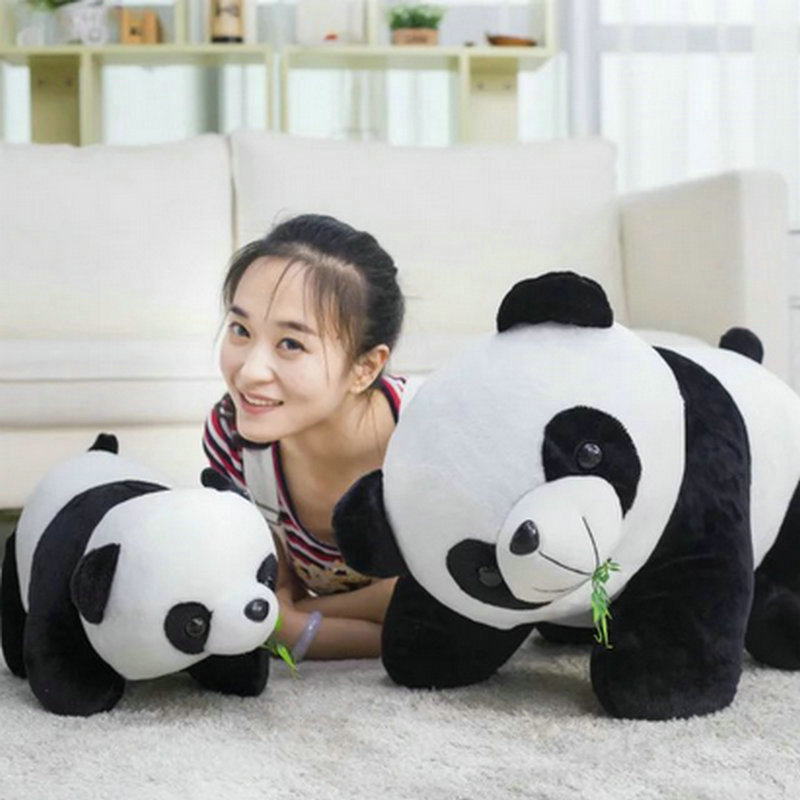 Hot Large Size 18-70CM Cute Bamboo Panda Plush Toys Plush Standing Panda Cloth Doll Pillow Soft Cushion kids toys birthday gift
