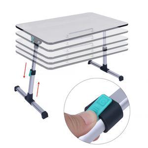 Image 5 - Escritorio ajustable para ordenador portátil para el hogar soporte portátil de pie escritorio portátil mesa de ordenador portátil sofá plegable mesa tipo bandeja para cama
