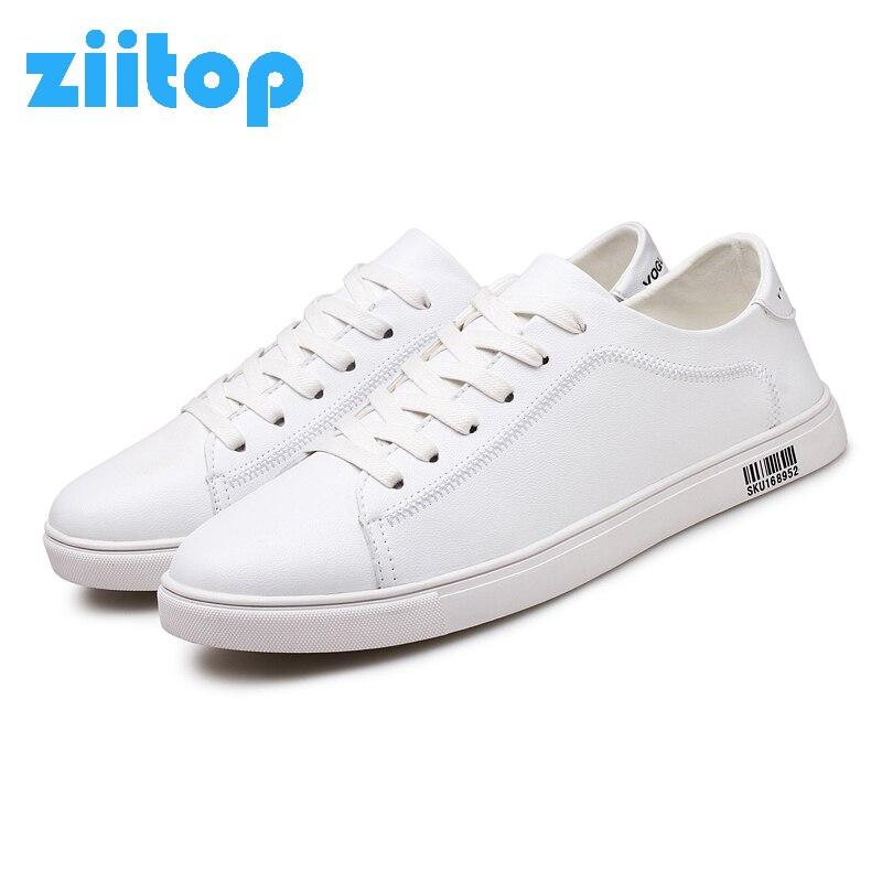 Prix pour Ziitop 2017 Hommes Planche À Roulettes Chaussures Hommes En Plein Air Sneakers Hommes Lumière En Cuir Appartements Chaussures de Marche Chaussures Formateur zapatos hombre