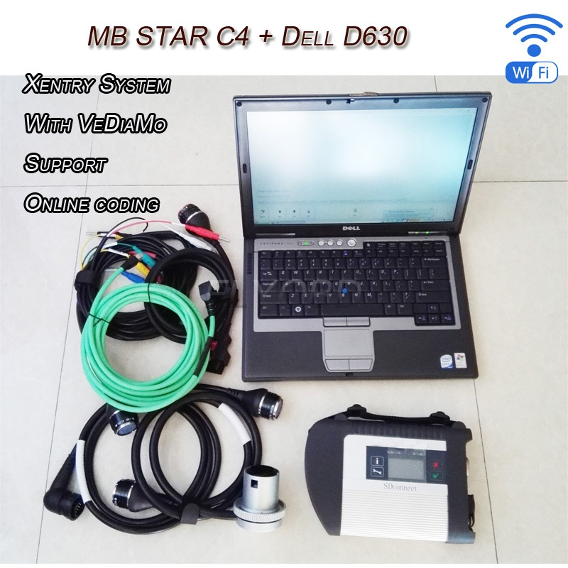 2016 newest MB Star SD Connect C4 Multi-languageS V09.2016 Software+Engineer Developer Vediamo for MB Star C4 D630 laptop