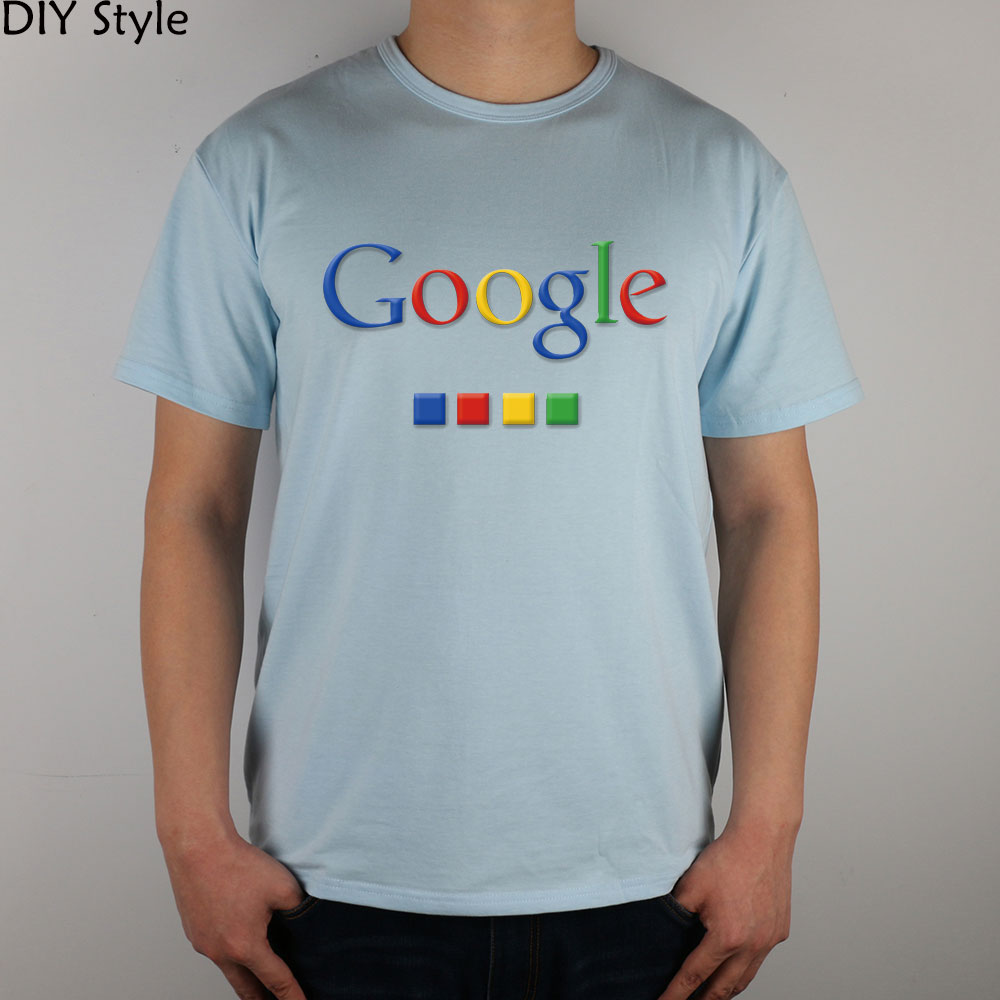 Four-color Google T-shirt cotton Lycra top 4586 Fashion Brand t shirt men new DIY Style high quality 2