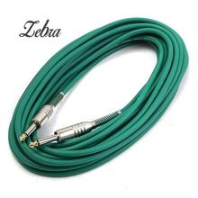 10 m Bajo Nivel de Ruido PVC Color niquelado 6.35mm (1/4) mono jack plug cable de guitarra bajo eléctrico guitarra instrumento de accesorios