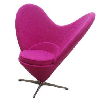 Hongyang European Bedroom Furniture Chaise Lounge Chairs Love Heart Shaped  Vanity Chair Butterfly Chair Love Seat In Barber Chairs From Furniture On  ...