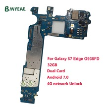 BINYEAE Замена для samsung Galaxy S7 край G935F/G935FD разблокирована основная материнская плата 32 ГБ разблокировать Европа версия
