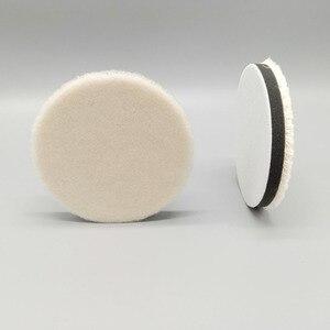 Image 5 - 4 inch Lämmer Woll Polieren Pad Für Auto Polierer Detail Spiegel Finish Polieren 100mm Polieren Disk