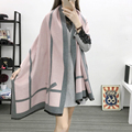 Winter Luxury Brand Scarves Women Long Wool Cashmere Scarf Pashmina Warm Women's Oversized Blanket Scarf Shawl Wrap