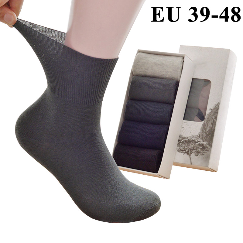 5 Pairs Men's   Socks   Plus Extra Large Big Size 45,46,47,48 Casual Spring Summer   Socks   Meias Calcetines Sox Cotton Long Tube Crew