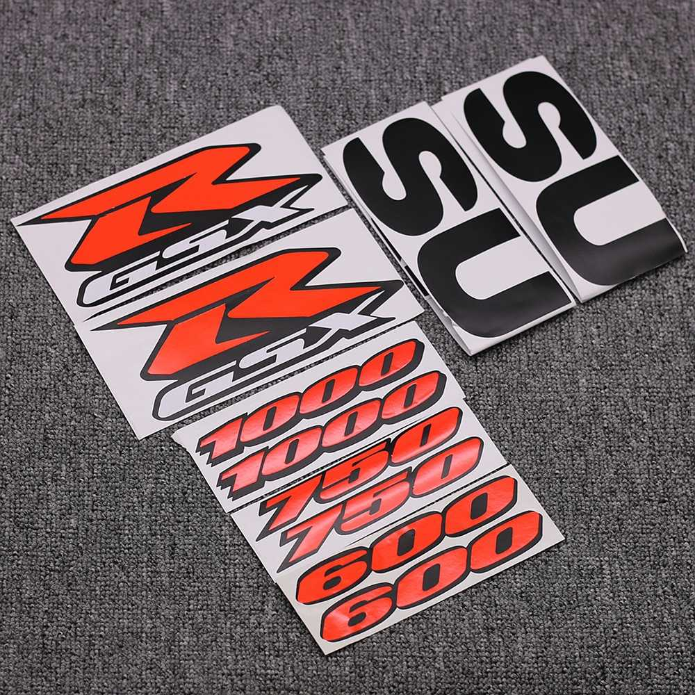 Motorcycle Fairing Kit Body Side Stickers Badge For Suzuki GSXR 1000 750 600 GSX-R K1 K2 K3 K4 K5 K6 K7 K8 K9 K10 Decals Emblem