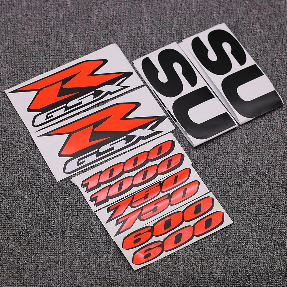 Motorcycle Fairing Kit Body Side Stickers Badge For <font><b>Suzuki</b></font> <font><b>GSXR</b></font> <font><b>1000</b></font> 750 600 GSX-R K1 K2 K3 K4 K5 K6 K7 <font><b>K8</b></font> K9 K10 Decals Emblem image