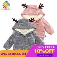 Lemonmiyu Baby Quilted Coats Zipper Spring Autumn Newborn Cotton Outwear Fashion O Neck Puppy Infants Cartoon Hooded Jackets