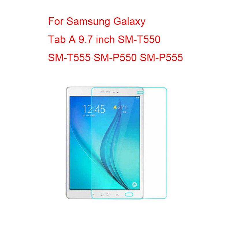 Protector de pantalla para Samsung Galaxy Tab A 7,0 8,0 9,7 10,1 T280 T285 T350 T355 T550 T555 P550 T580 T585 p580 P585 Vidrio Templado