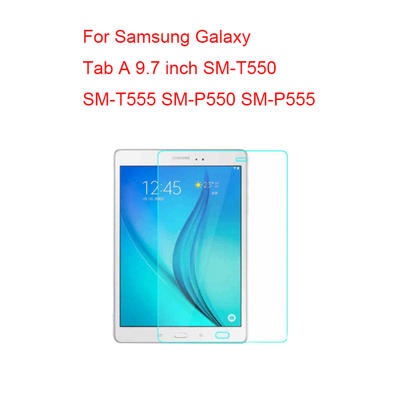 Screen Protector For Samung Galaxy Tab A 7.0 8.0 9.7 10.1 T280 T285 T350 T355 T550 T555 P550 T580 <font><b>T585</b></font> P580 P585 Tempered Glass image