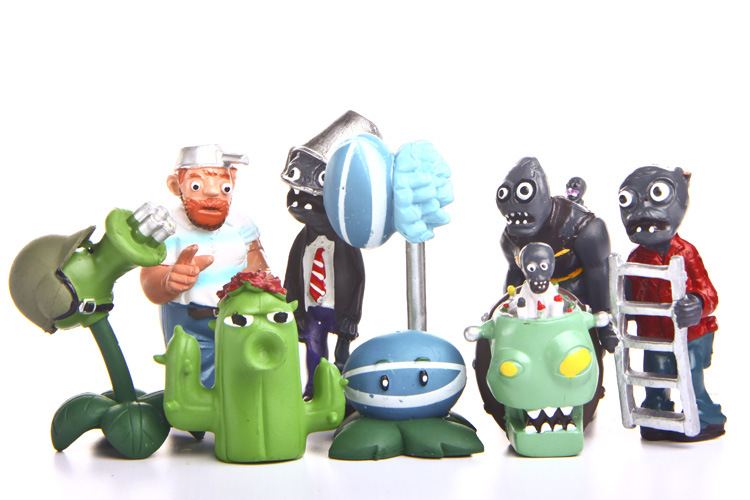 8PCS Plants vs. Zombies /fairy garden gnome/terraium decoration/bonsai/Valentines Day/DIY/children gifts/