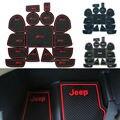 Antiderrapante para jeep grand cherokee 2011-2014 acessórios palavras adesivos de carro sulco porta interior copa mat slot de portão pad carro-styling