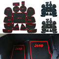 Non Slip For Jeep Grand Cherokee 2011-2014 Accessories Words Car Stickers Interior Door Groove Cup Gate Slot Mat Pad Car-Styling