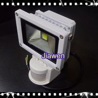 White Shell 10W New PIR Motion Sensor LED Floodlight Flood Lights Light Induction Sense Lamp 85