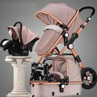 Poussette bébé 3 en 1 luxe parapluie bébé poussettes haute paysage poussette pliante poussettes bébé chariot landau