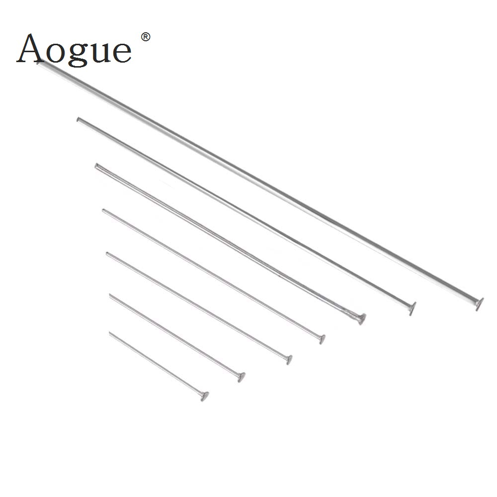 Head Pins Stainless Steel Bright Sparkly silver color Long Accessories For Jewelry Finding Accessories stainless steel double head crowbar for cell phone silver
