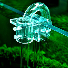 Fish Aquarium Filtration Water Pipe Filter Hose Transparent Acrylic Holder For Mount Tube Tank Accessories AT013