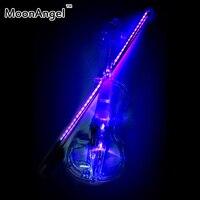 Transparent 4 4 Violin LED Light Send Violin Hard Case Electric Violin With Colorful Power Lines