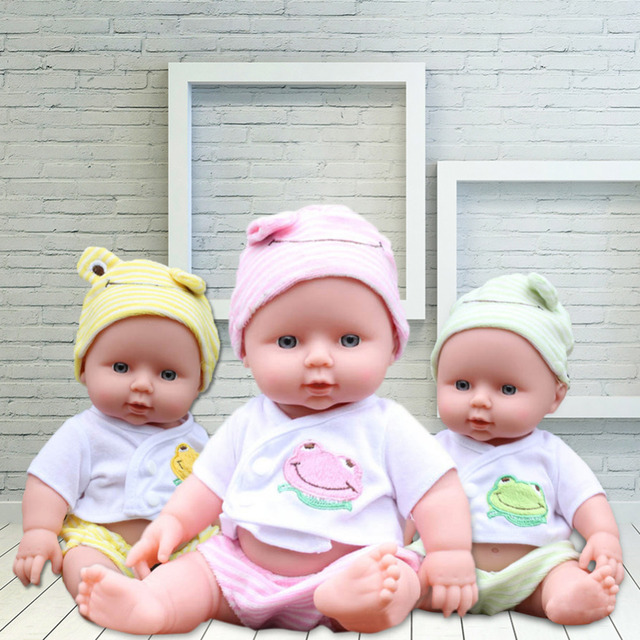 Simulation silicone  doll soft vinyl newborn toys for girls birthday gift Clothing Changeable Baby Accompanying Toy