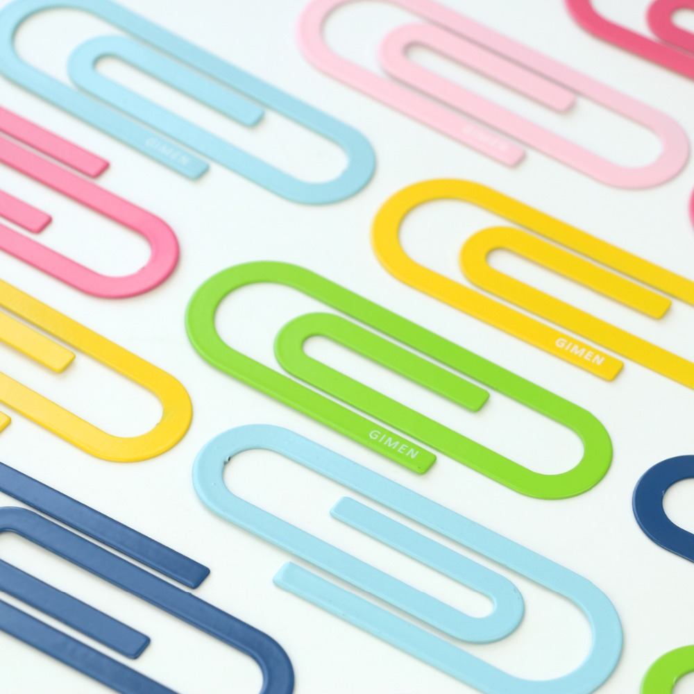Metal Drop Shape Paper Clip 2 Bags Creative Kawaii Bookmark Binder Clip Photos Notes Clip Office Binding Supplies GS08 0010 1506 in Clips from Office School Supplies
