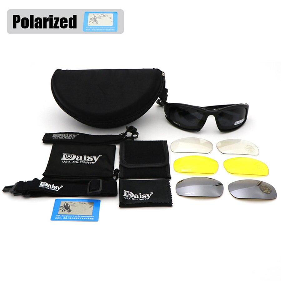 Margarida X7 Bullet proof Exército Militar Goggles Óculos Polarizados Lente  4 Caça Tiro Airsoft Óculos em Óculos de sol de Acessórios de vestuário no  ... d30508844d
