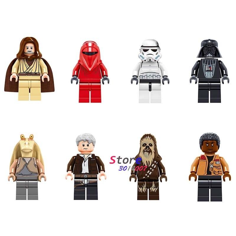 50pcs tooper Han Solo Darth Vader Renobi Finn Jar Jar Binks obi wan building block for
