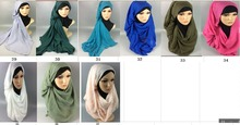 20PCS 1lot  High quality cotton viscose hijab ,same material with lace shawl,scarf,180*90cm, can choose  colors