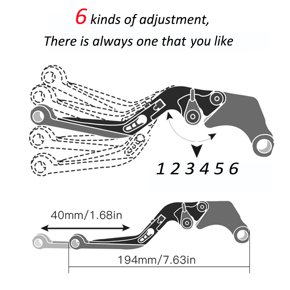Motorbike Accessories Motorcycle Handlebar Brake Clutch Levers Adjustable Folding Extendable For Honda CB600F CB 600 F 2007 2013 in Levers Ropes Cables from Automobiles Motorcycles