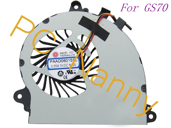 ФОТО 100%Genuine New Laptop CPU Cooling Fan for MSI GS70 MS-1771 PAAD06015SL 0.55A 5VDC N229