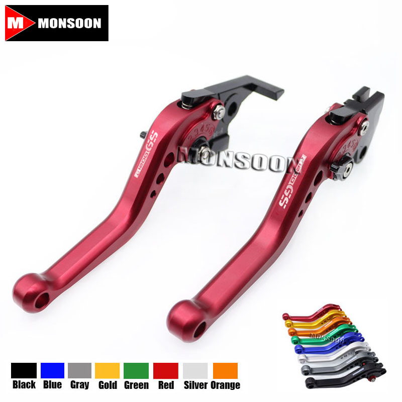 LOGO R1200GS For BMW R1200GS LC 2013-2017 R1200GS Adventure LC 2014-2017 Motorcycle Aluminum short Brake Clutch Levers Red motoo b 77 c 75 motorcycle brake clutch levers for bmw r1200gs lc 2013 2017 r1200gs adventure 14 17 k1600 gt gtl2017