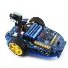 Ahududu Pi robot yapı seti: Ahududu Pi 3 Model B + AlphaBot ve Kamera, 24 aksesuarları