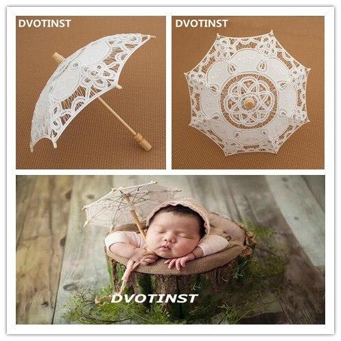 Dvotinst новорожденных Подставки для фотографий белый кружевной зонтик Fotografia аксессуары для студийной съемки наряд для фотосессий подарок душ... ...