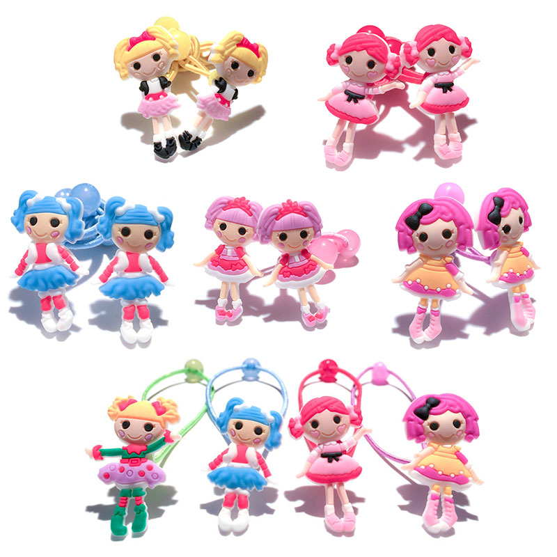 1-4pairs Lalaloopsy Cartoon Elastic Hair Band Hair Tie Rubber Band Hair Rope Headband He ...