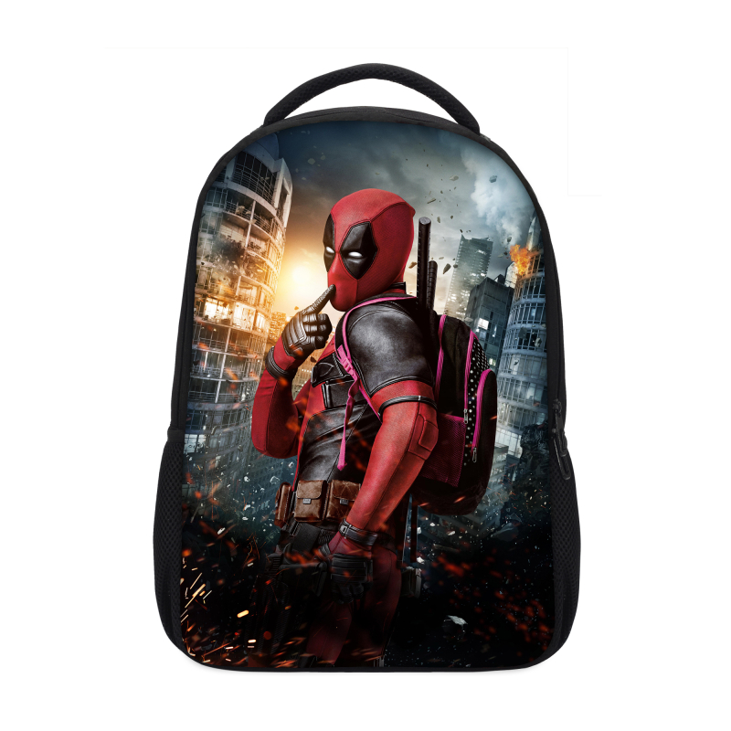 Veevanv Cool Men Hero Deadpool Backpacks Designer Children Bookbag Fashion 3d Prints Shoulder School Bags For Teenagers Mochila