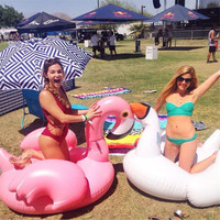Giant Inflatable Flamingo 150cm Unicorn Pool Floats Tube Raft Swimming Ring Circle Water Bed Boia Piscina Adults Party Toys