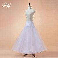 AW Bridal Petticoat Wedding Lót Màu Trắng/Đen Underdress Bridal Khung Làm Cái Vái Phùng Dài váy lót A Line Váy Lót