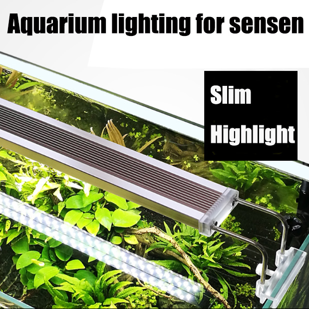 Sunsun ADE serie Slim LED Aquarium Light Lighting plantas Grow Light 220v / 50hz iluminación de plantas acuáticas