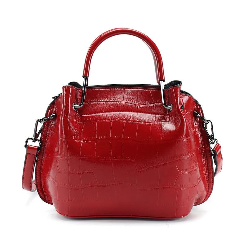 2018 New Fashion Crocodile Pattern Women Handbags Big Red Bride Tote Bag For Wedding Single Shoulder Soft Pu Leather Female