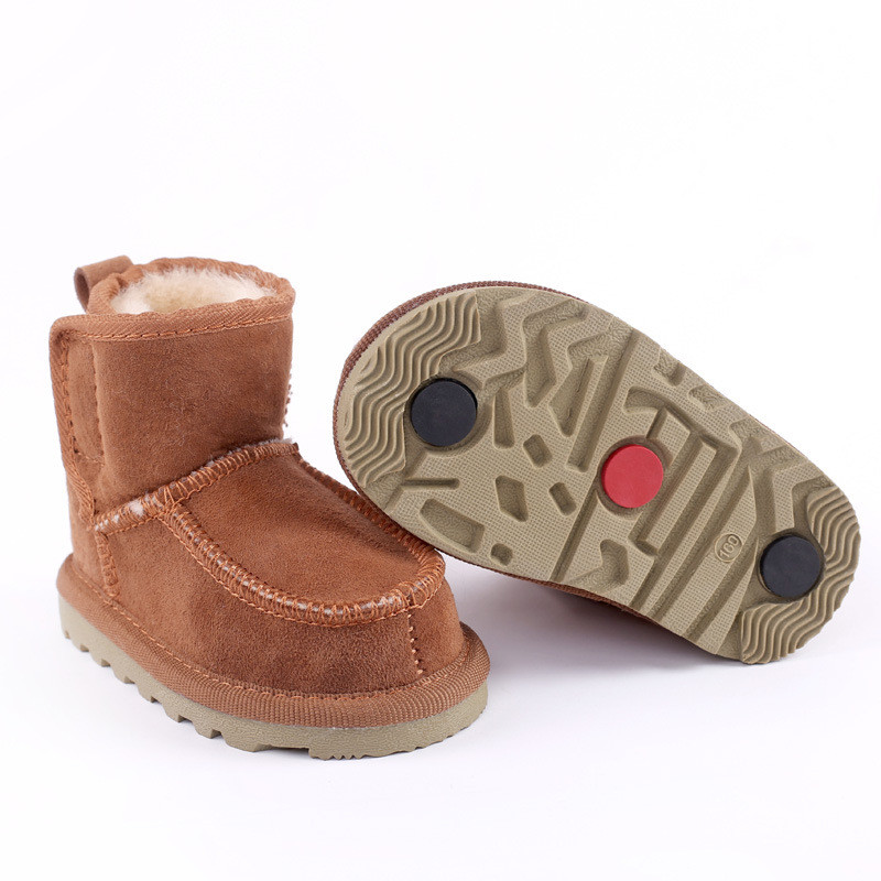 2018 Hot Girls & Boys Shoes Childrens Sheepskin One Handmade Non-slip Fashion Martin Boots Womens boots E4