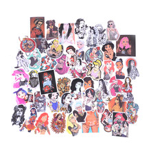 50pc Sexy Beauty Tatoo Girls Graffiti Stickers For Luggage Fridge Phone Skateboard Laptop Styling home doodle DIY Sticker 6-12CM(China)