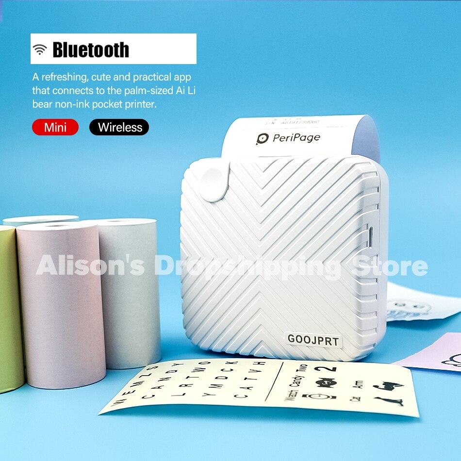 New Design Peripage GOOJPRT Small Photo Mini Printer For Android IOS Phone Printer Free APP