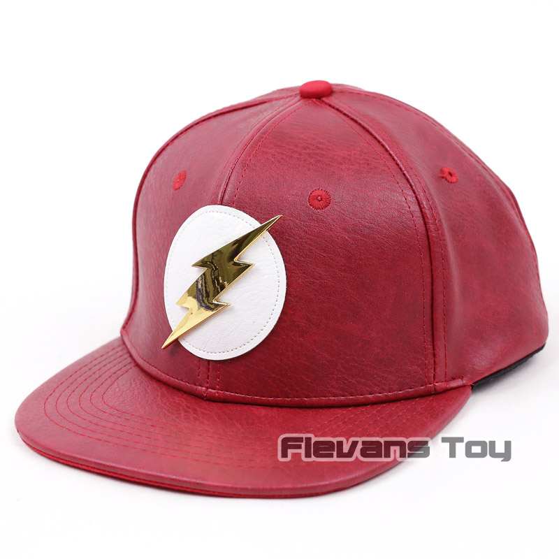 4cabf24eccbba DC Comics The Flash Snapback Cap Leather Baseball Hat for Men Fashion  Casual Bboy Hip Hop Caps-in Baseball Caps from Apparel Accessories on  Aliexpress.com ...