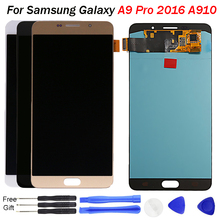 For Samsung A9 Pro LCD Display 2016 A910 Screen display Touch Screen Digitizer Assembly For Samsung A9 A910 Screen LCD Pantalla original a1534 lcd screen display assembly for macbook 12 a1534 2015 2016 a1534 lcd screen display assembly gray color
