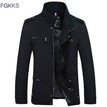 FGKKS 브랜드 남성 자켓 코트 패션 트렌치 코트 새 가을 캐주얼 실롬 피트 오버 코트 블랙 폭격기 자켓 남성